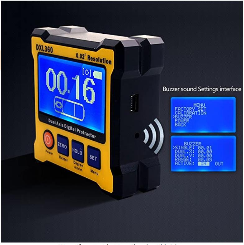Digitaler Winkelmesser   DXL360S Digitaler LCD Winkelmesser Neigungsmesser mit